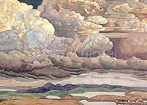 Nikolai Konstantinow Roerich: Grosse Wolken. 1909.