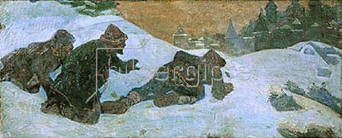 Nikolai Konstantinow Roerich: Die Spione. 1900.