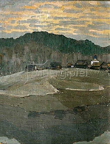 Nikolai Konstantinow Roerich: Sonnenuntergang.