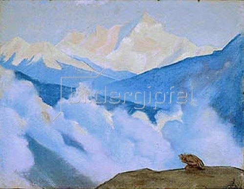 Nikolai Konstantinow Roerich: Im Himalaya. 1937.