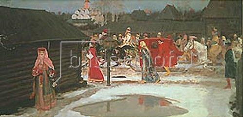 Andrej Petrow Rjabuschkin: Hochzeitszug im Moskau des 17. Jahrhunderts. 1901.
