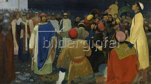 Andrej Petrow Rjabuschkin: Die Hinrichtung eines Mannes durch den Fürsten Gleb in Nowgorod. 1898