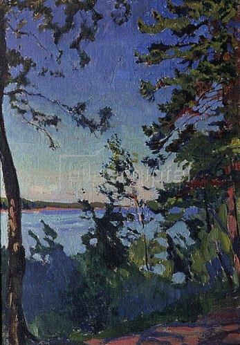 Arkadi Rylow: Park am Ufer der Newa. 1916.