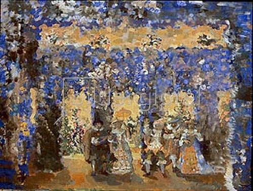 Nikolaj Sapunov: Tanz im Gartenpavillon. 1912.