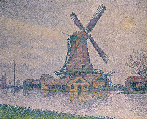 Paul Signac: Windmühle bei Edam. 1896.