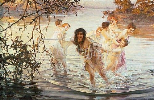 Paul Chabas: Glückliches Spiel im Wasser. 1899