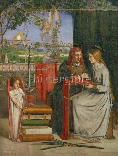 Dante Gabriel Rossetti: Die Kindheit der Hl. Jungfrau Maria. 1849.