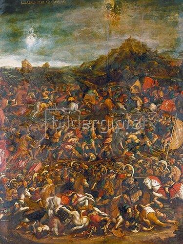 Hans Burgkmair d.Ä.: Die Schlacht bei Cannae, Niederlage der Römer gegen die Karthager unter Hannibal 216 v.Chr.