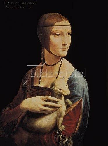 Leonardo da Vinci: Die Dame mit dem Hermelin, um 1490