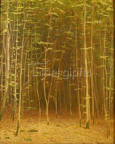 Carl Ludwig Noah Bantzer: Sonne im Frühlingswald. 1932 oder 1938