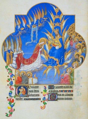 Handschrift: Stundenbuch des Herzogs von Berry (Très Riches Heures du Duc de Berry): Krönung Mariae.