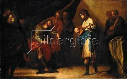 Bernardo Cavallino: David spielt vor Saul. Um 1645.