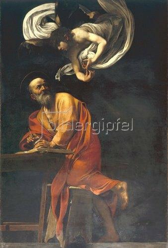 Caravaggio: Der Heilige Matthäus mit Engel. 1602.