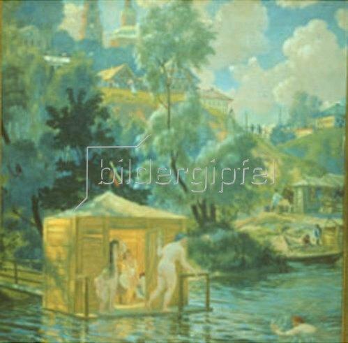 Boris Michailowitsch Kustodiev: Badeanstalt. 1921
