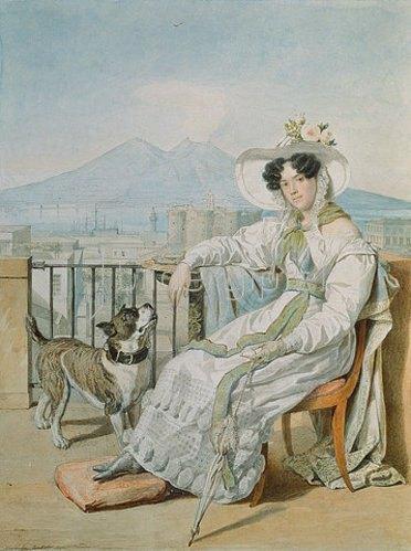 Alexandr Pawlowitsch Brjullow: Bildnis der Prinzessin Natalie Golitsin (1794-1890). 1822/1826