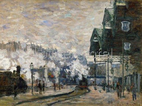 Claude Monet: Der Bahnhof Saint-Lazare. 1877.