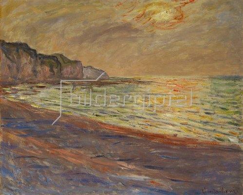 Claude Monet: Strand in Pourville, Sonnenuntergang. 1882.