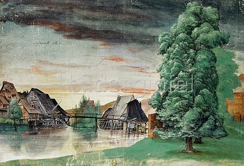 Albrecht Dürer: Die Weidenmühle. Um 1506