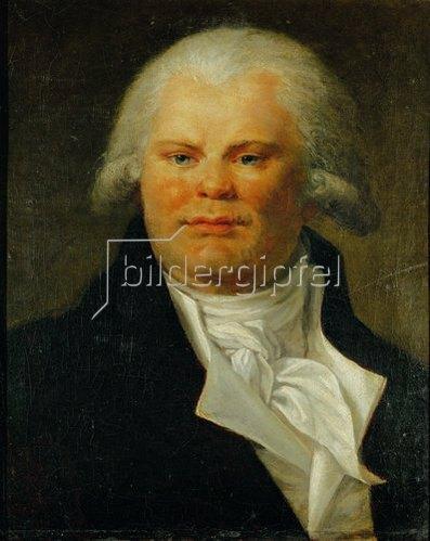 Anonym: Bildnis von Georges-Jacque Danton (1759-1794). 18. Jahrhundert