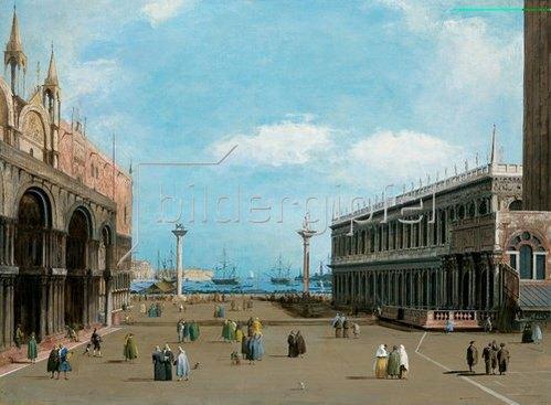 Bernardino Giuseppe Bison: Der Markusplatz in Venedig gegen das Meer.