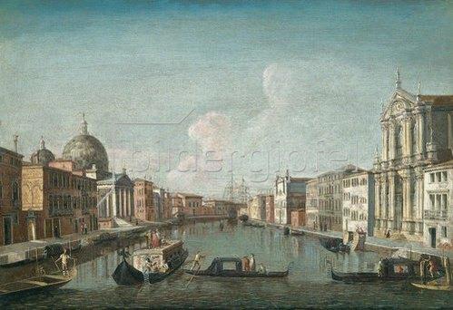 Francesco Albotto: Venedig, der Canale Grande gegen Santa Chiara.