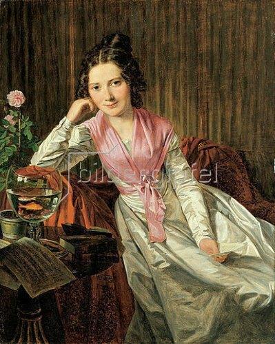 Ferdinand Georg Waldmüller: Die Schauspielerin Therese Krones (1801-1830). 1824
