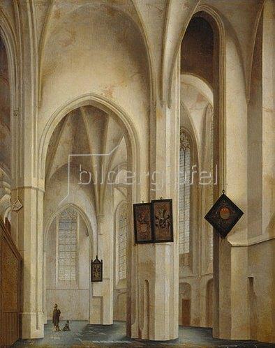 Pieter Jansz Saenredam: Innenansicht der St.Jakobs-Kirche in Utrecht. 1642.