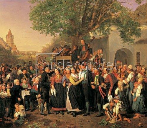 Ferdinand Georg Waldmüller: Niederösterreichische Hochzeit (die Perchtoldsdorfer Hochzeit). 1843