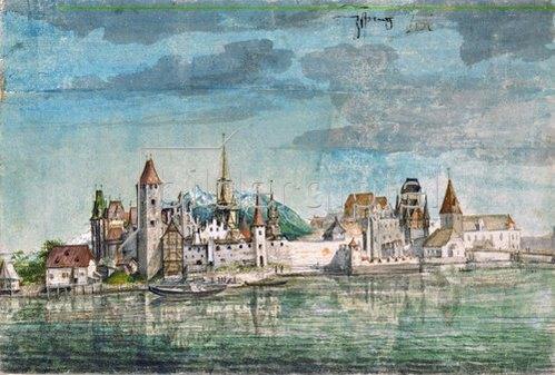 Albrecht Dürer: Innsbruck von Norden gesehen. 1494.