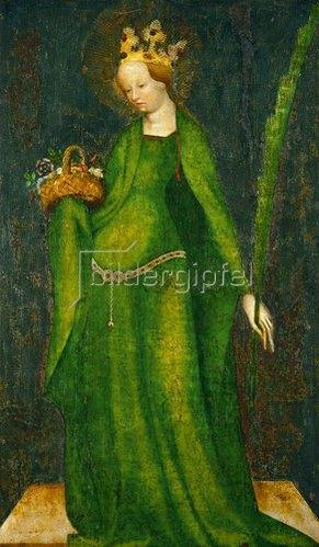 Anonym: die Hl. Dorothea. Tafelbild eines Altars.