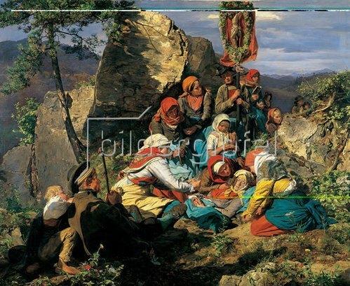 Ferdinand Georg Waldmüller: Die kranke Pilgerin. 1859.