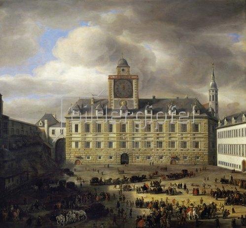 Samuel van Hoogstraten: Der innere Burgplatz in Wien. 1652.