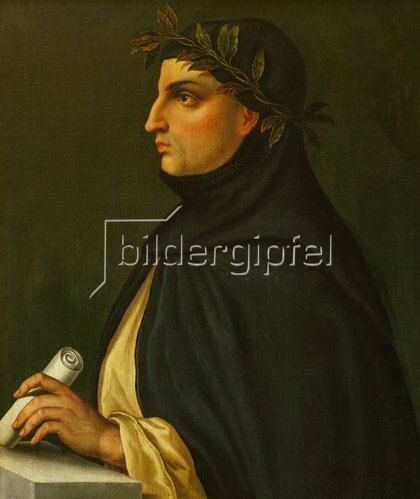 Anonym: Der Dichter Giovanni Boccaccio, Bildnis,  (1313-1375)