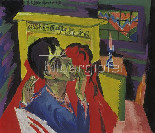 Ernst Ludwig Kirchner: Selbstbildnis als Kranker. 1918/20