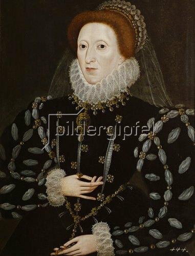 Anonym: Königin Elisabeth I. von England (1533-1603), Tochter Heinrichs VIII. und Anne B