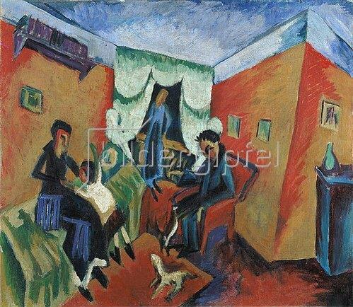 Ernst Ludwig Kirchner: Interieur. 1914.