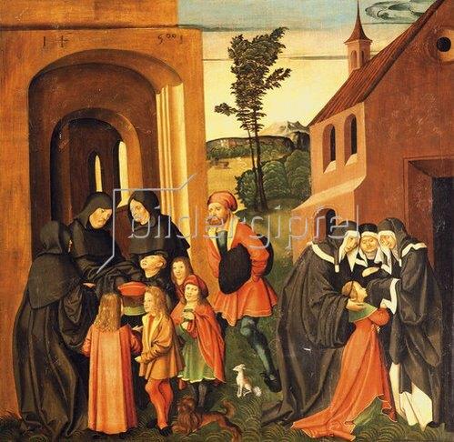 Jörg Breu (Preu) d.Ä.: Szene aus dem leben des Hl. Bernhard. 1500