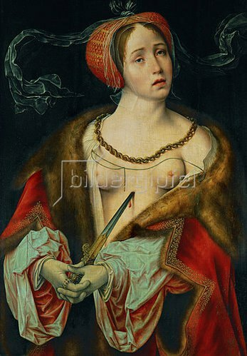 Joos van Cleve: Der Selbstmord der Lucrezia. 1520/1525