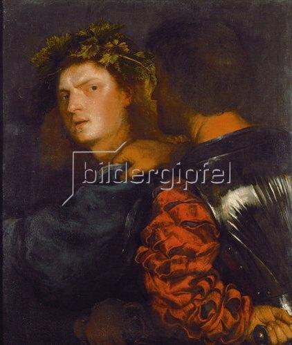Tizian (Tiziano Vecellio): Il Bravo. 1520 (Tiziano Vecellio ungewiss!)