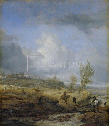 Philips Wouwerman: Bewölkte Dünenlandschaft. 1640-er Jahre.