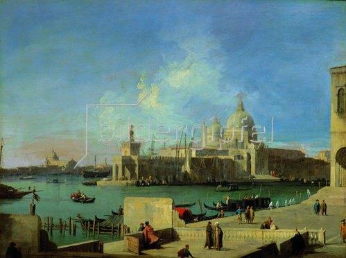 Canaletto (Giov.Antonio Canal): Blick vom Canale Grande auf Sta. Maria della Salute, Venedig. 1727/1728