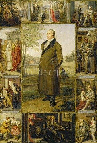 Moritz Daniel Oppenheim: Johann Wolfgang von Goethe, umgeben von seinen Werken.