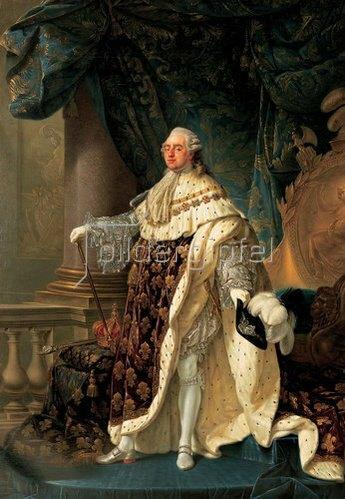 Francois Antoine Callet: König Louis XVI. von Frankreich im Krönungsornat. 1781.