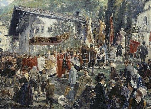 Adolph von Menzel: Prozession in Hofgastein. 1880
