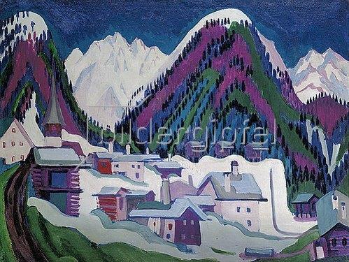 Ernst Ludwig Kirchner: Dorf Monstein bei Davos. 1927.