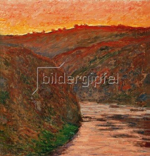 Claude Monet: Flussbiegung im Abendrot.