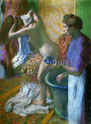 Edgar Degas: Die Tasse Kaffee nach dem Bad.