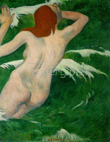 Paul Gauguin: Akt zwischen Wellen. 1889.