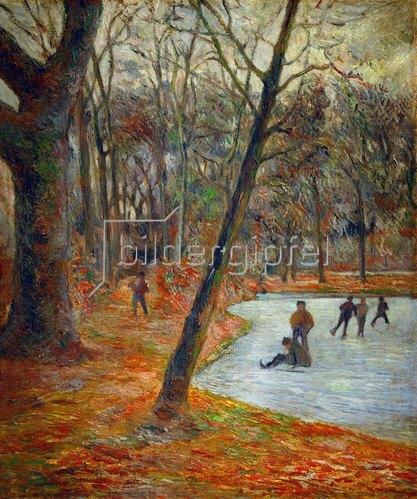 Paul Gauguin: Eisläufer im Park von Schloss Frederiksborg. 1884.