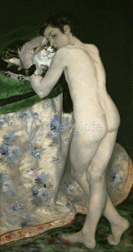 Auguste Renoir: Nackter Junge mit Katze. 1868.